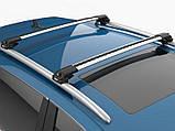 Багажник на крышу Mitsubishi Challenger 1996-2016 на рейлинги серый Turtle, фото 2