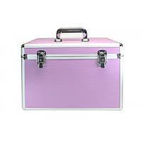Профессиональный алюминиевый кейс для косметики - CaseLife A-28 Розовый - A28-PINK