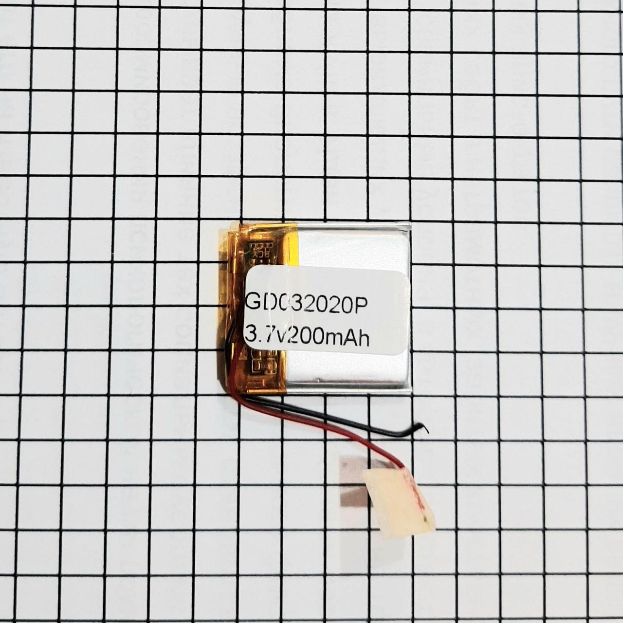Литий полимерный аккумулятор 032020 200mah