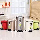 Відро для сміття з педаллю JAH 7 л червоне, фото 2