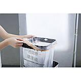 Ведро для мусора с педалью JAH 7 л серебряный металлик с внутренним ведром, фото 10