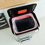 Відро для сміття з педаллю JAH 30 л темно-срібний металік, фото 5