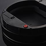 Сенсорне відро для сміття JAH 25 л кругле темно-срібний металік без внутрішнього відра, фото 3