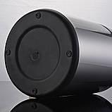 Сенсорне відро для сміття JAH 25 л кругле темно-срібний металік без внутрішнього відра, фото 5
