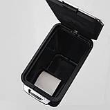 Сенсорное мусорное ведро JAH 7 л прямоугольное серебряный металлик с внутренним ведром, фото 3