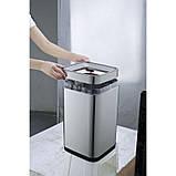Відро для сміття JAH 30 л срібний металік без кришки і внутрішнього відра, фото 7
