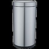Відро для сміття JAH 25 л круглий срібний металік без кришки і внутрішнього відра, фото 5