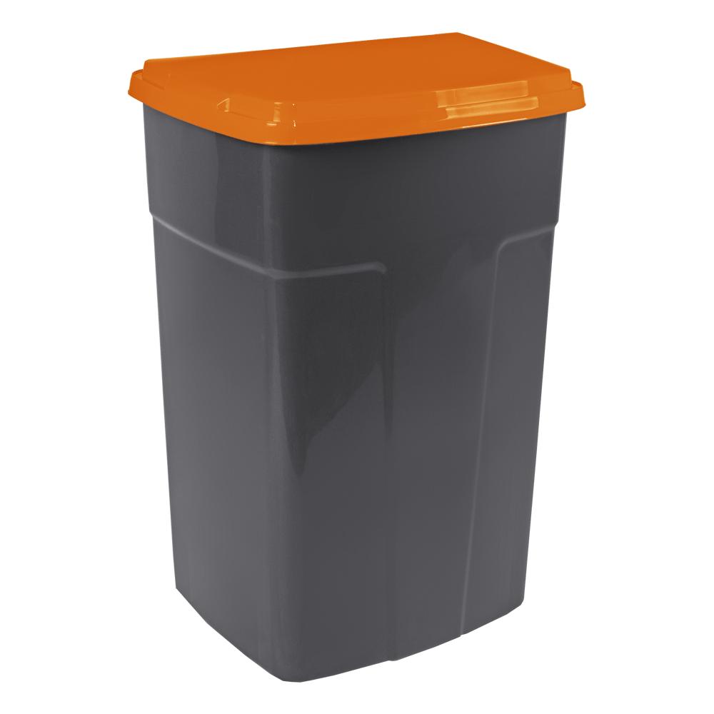 Сміттєвий Бак 90л темно-сірий помаранчевий