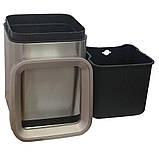 Ведро для мусора JAH 15 л серебряный металлик без крышки с внутренним ведром, фото 3