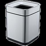 Ведро для мусора JAH 15 л серебряный металлик без крышки с внутренним ведром, фото 6