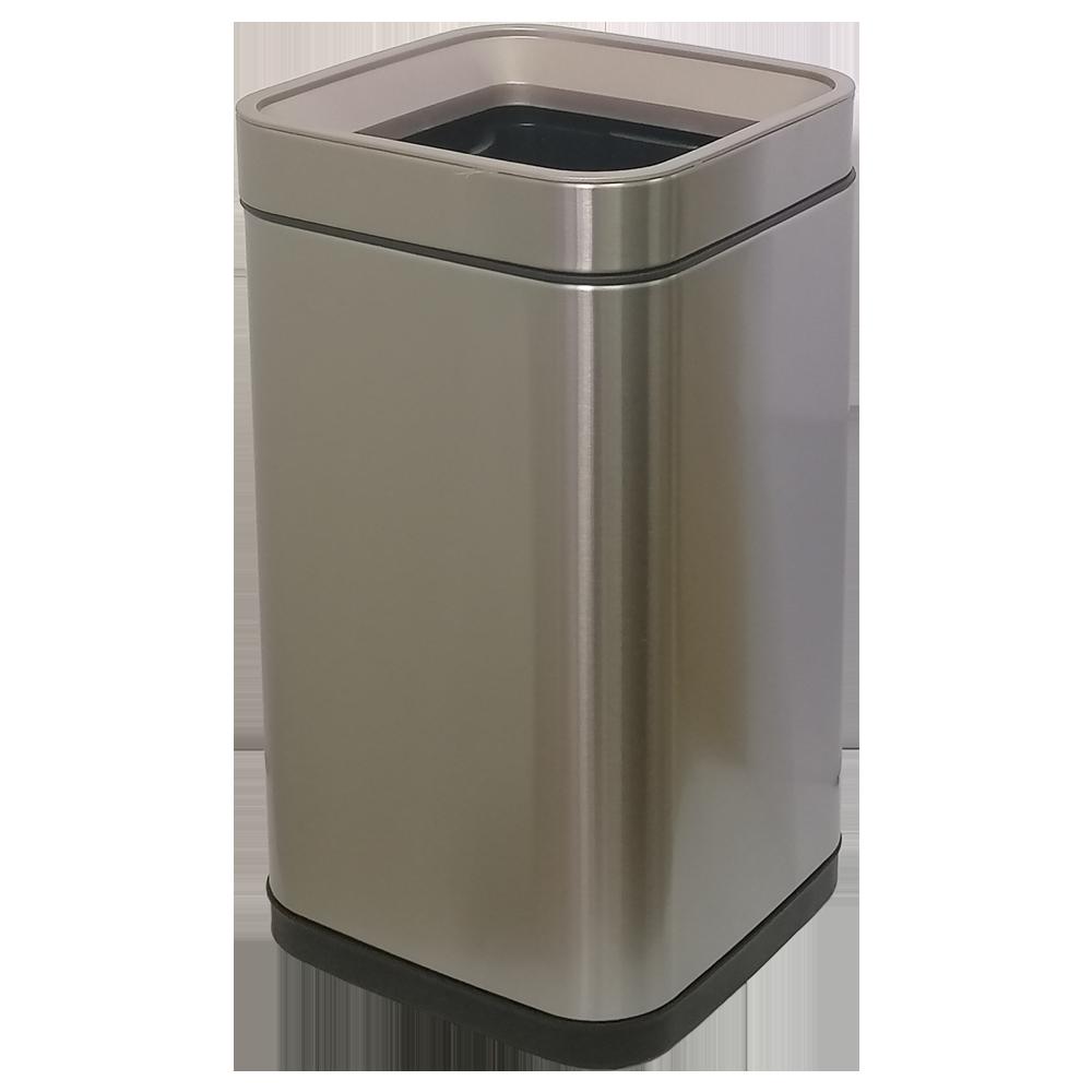 Відро для сміття JAH 20 л срібний металік без кришки з внутрішнім відром