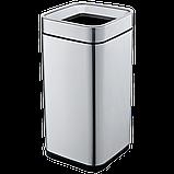 Відро для сміття JAH 20 л срібний металік без кришки з внутрішнім відром, фото 6