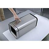 Відро для сміття JAH 20 л срібний металік без кришки з внутрішнім відром, фото 8