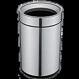 Ведро для мусора JAH 15 л круглое серебряный металлик без крышки с внутренним ведром, фото 6
