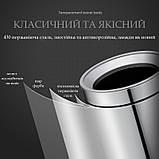 Ведро для мусора JAH 15 л круглое серебряный металлик без крышки с внутренним ведром, фото 8
