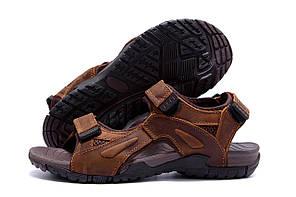 Мужские кожаные сандалии DEFF brown