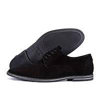 Мужские кожаные летние туфли VanKristi classic black