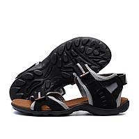 Мужские кожаные сандалии Nike Active Drive Grey (реплика)