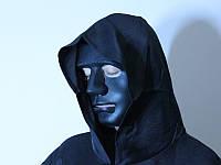Маска Лицо человека черная, фото 1