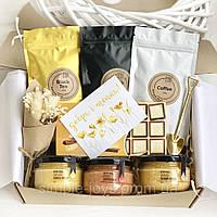"""Подарунковий набір з чаєм та крем-медом """"Добра і тепла"""", чайний набір"""
