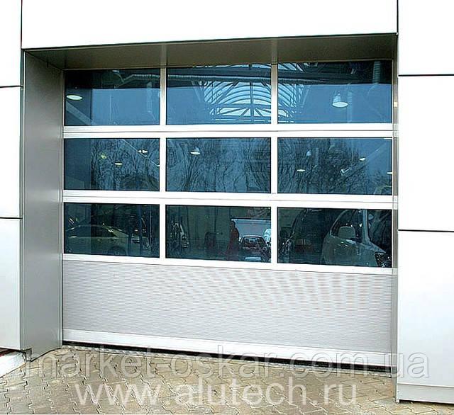 Секционные панорамные ворота Alutech Hi-Tech