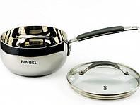 Ковш из литой стали RINGEL Be Creative 1.6 л, 16 см RG-40014-16, бесшовное индукционное дно