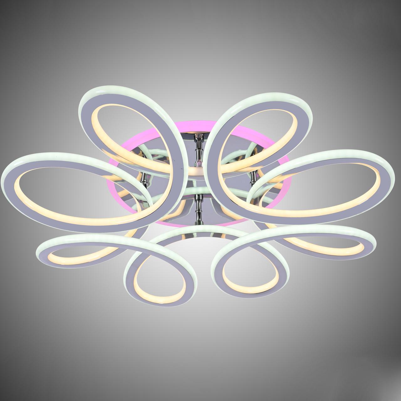 Люстра LED 87-8026/8 WH RGB 174W+30W