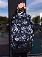 Рюкзак черные с принтом Гербарий Рюкзаки городские и спортивные. Рюкзаки молодежные. Рюкзаки мужские и женские
