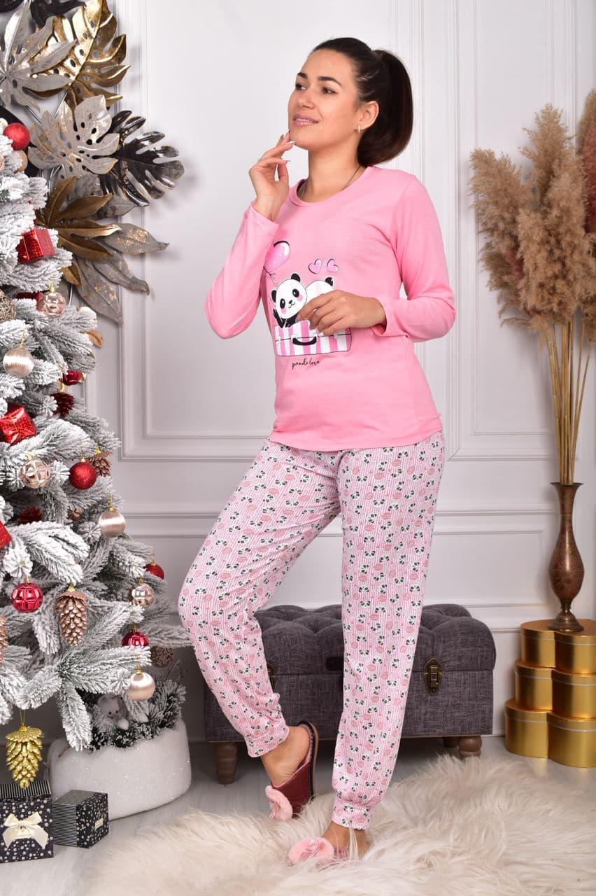 Піжама жіноча рожева кофта та штани код П233 Уцінка