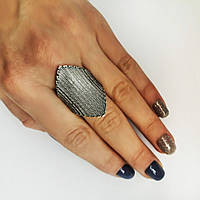 Стильное серебреное кольцо