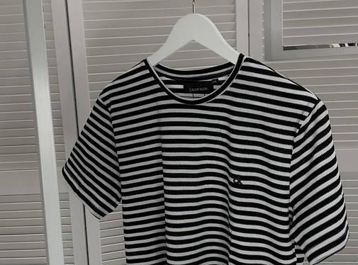 Стильная мужская футболка Calvin Klein Черная, Стильная футболка с узором Люкс качество, фото 2