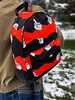 Рюкзак черные с принтом Палец Рюкзаки городские и спортивные. Рюкзаки молодежные. Рюкзаки мужские и женские
