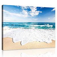 Картина на холсте 100х75 см Пляж и Тихий океан (PP10218O1) Лучшее качество