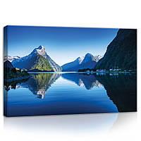 Картина на холсте 60х40 см Горы в Новой Зеландии (PP11794O4) Лучшее качество