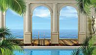 Фотообои 3D 368x254 см Арки и море (1529P8) Лучшее качество