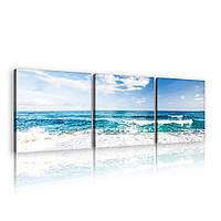 Модульная картина на холсте 3x25x25 см Пляж и тихий океан (PS10218S13) Лучшее качество