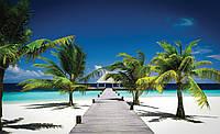 Фотообои виниловые 3D 368x254 см Море, песок, пляж (891W8) Лучшее качество