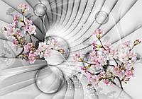 Фотообои флизелиновые цветы 3D 254x184 см Туннель с вишней (10200V4) Лучшее качество