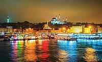 Фотошпалери флізелінові 3D 416x254 см Нічне місто в райдужних кольорах (3467VEXXXL) Найкраща якість
