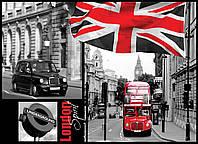 Фотошпалери 3D місто 368х254 см Автобус в Лондоні (059P8) Найкраща якість