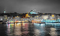 Фотошпалери 3D 368x254 см Нічне місто, яскраві кольори 10152P8 Найкраща якість