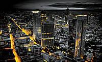 Фотошпалери флізелінові 3D 368х254 см Нічний просунутий місто (326V8) Найкраща якість