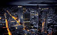 Фотошпалери 3D флізелінові 368х254 см Нічний міста не спить (329V8) Найкраща якість