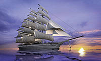 Фотошпалери 3D 368x254 см Штиль у коло корабля (892P8) Найкраща якість