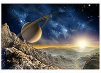 Фотошпалери флізелінові 3D Космос 375х250 см Планета (MS-5-0187) Найкраща якість