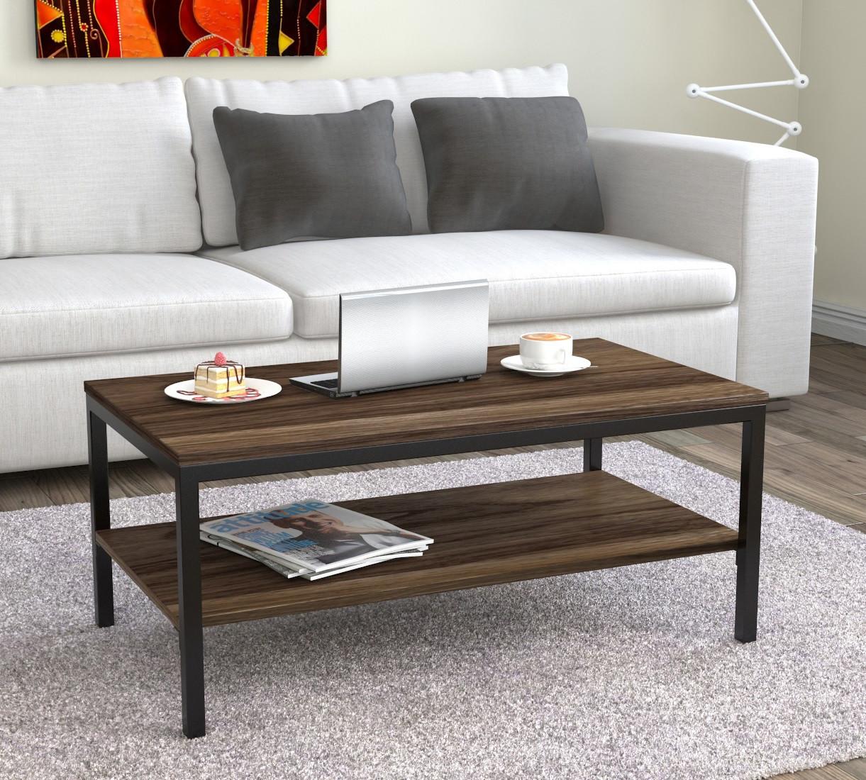 Журнальний стіл лофт Loft Design L-1 Горіх Модена