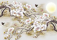 Фотообои флизелиновые цветы 312x219 см Ветки сакуры (13287VEXXL) Лучшее качество