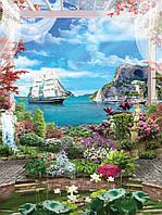 Фотошпалери флізелінові 3D 206x275 см Корабель приплив (11425VEA) Найкраща якість