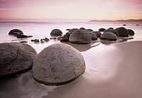 Фотошпалери море 3D 366х254 см Wizard+Genius 285 Валуни Moeракі 8 сегментів (7611487002857) Найкраща якість