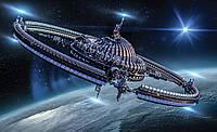 Фотошпалери 3D 368x254 Корабель в космосі (2875P8) Найкраща якість